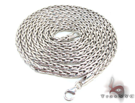 Mens Silver Chain 26 Inches 3mm 19.1 Grams Silver