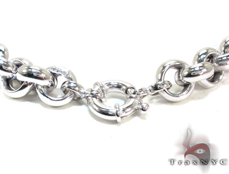 Unisex Silver n 18 Inches 11mm 68.9 Grams Silver