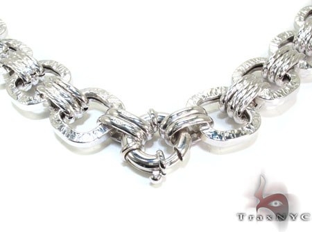 Ladies Silver Chain 18 Inches 17mm 82.3 Grams Silver