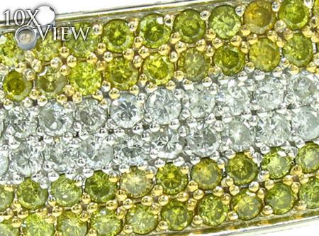 Mens Two Color Diamond Bracelet 21022 Diamond