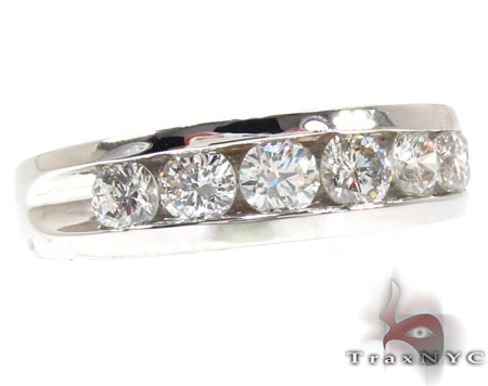 Mens White Gold Channel Diamond Ring 20821 Style