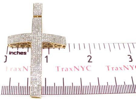 Mens Yellow Gold Pave Diamond Cross 20823 Diamond