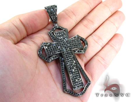 Mercy Dipped in Black Sterling Silver Cross Silver