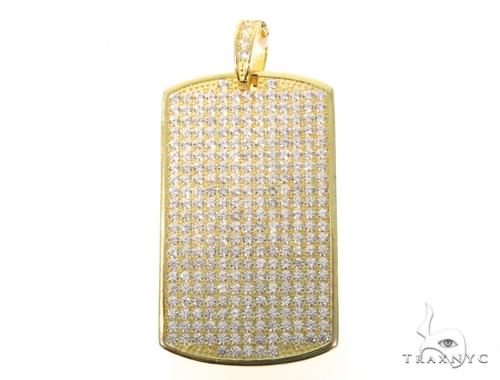 Silver CZ Dog Tag Pendant 48956 Metal