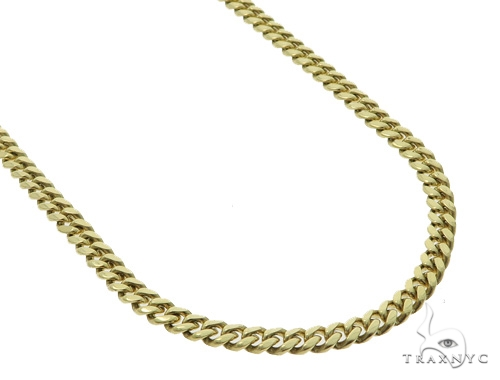 Miami Cuban 10k Yellow Gold Chain 24 Inches 6mm 61 Grams 49834 Gold
