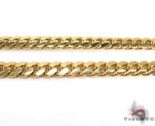 Miami Cuban Chain 18k Yellow Gold 79.79 Grams 22 Inches 6.5mm 46176 Gold