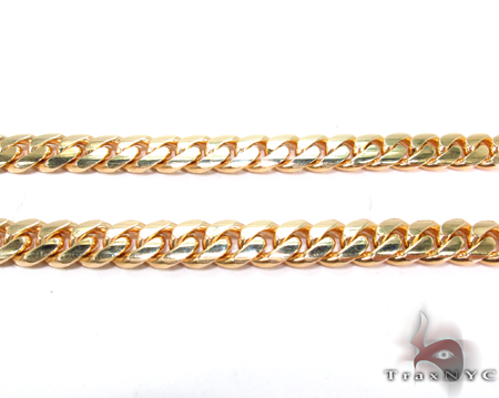 Miami Cuban Curb Link Chain 22 Inches 7mm 69.3 Grams Gold