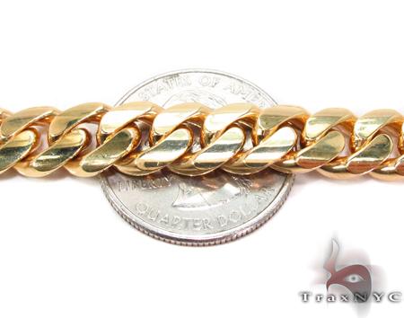 Miami Cuban Curb Link Chain 22 Inches 8mm 99.9Grams Gold