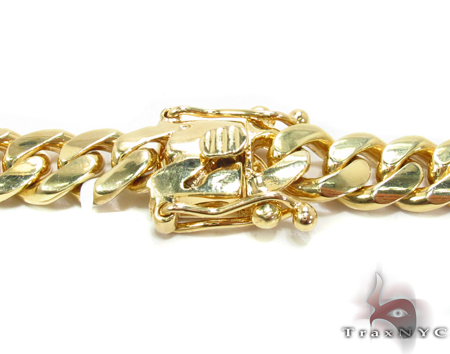 Miami Cuban Curb Link Chain 22 Inches 9mm 126.2 Grams Gold