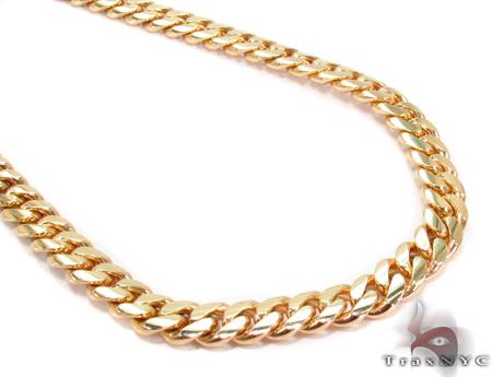 Miami Cuban Curb Link Chain 24 Inches 5mm Mens Gold Chain