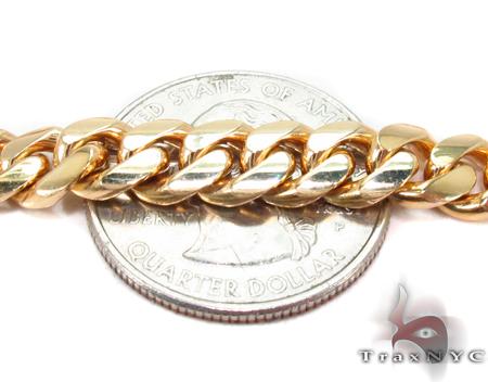 Miami Cuban Curb Link Chain 24 Inches 7mm 92.3 Grams Gold