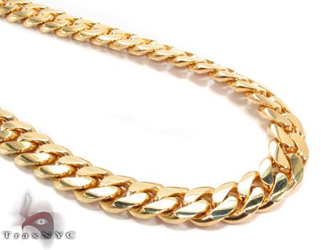 Miami Cuban Curb Link Chain 24 Inches 8mm 109Grams Gold