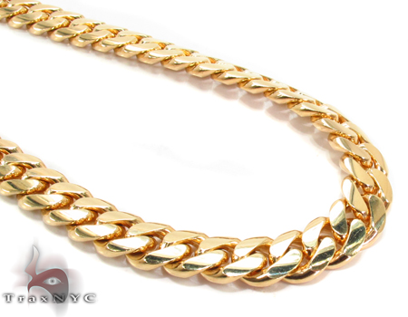 Miami Cuban Curb Link Chain 26 Inches 8mm 124.3 Grams Gold