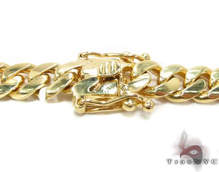 Miami Cuban Curb Link Chain 26 Inches 8mm 124.3 Grams Gold