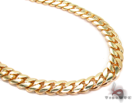 Miami Cuban Curb Link Chain 28 Inches 7mm 88.2 Grams Gold