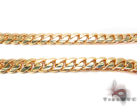 Miami Cuban Curb Link Chain 28 Inches 8mm 127.2 Grams Gold
