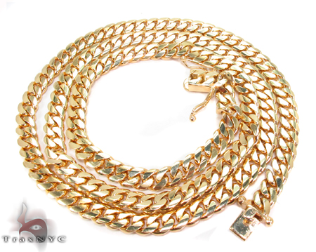 Miami Cuban Curb Link Chain 30 Inches 7mm 102.7 Grams Gold
