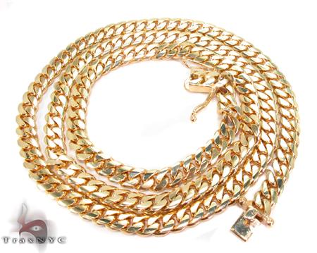 Miami Cuban Curb Link Chain 30 Inches 7mm 102.7 Grams Gold