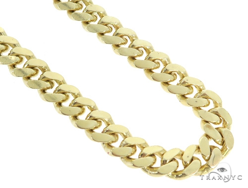 Miami Cuban Gold Chain 24 Inches 8mm 121.50 Grams 49627 Gold