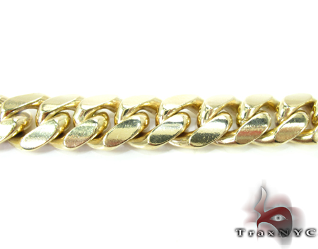 Miami Cuban Link Bracelet 7.5 Inches 12mm 70.9 Grams Gold