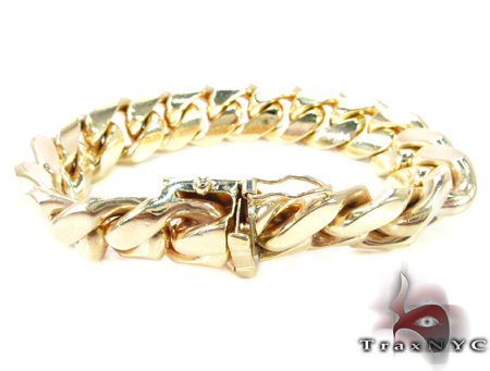 Miami Cuban Link Bracelet 8 Inches 17mm 170.1 Grams Gold