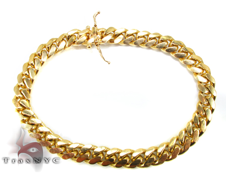 Miami Cuban Link Bracelet 8 Inches 8 mm 39.4 Grams Gold