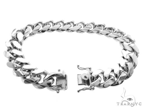 Miami Cuban Silver Bracelet 49188 Silver