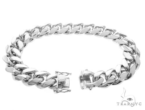 Miami Cuban Silver Bracelet 49191 Silver