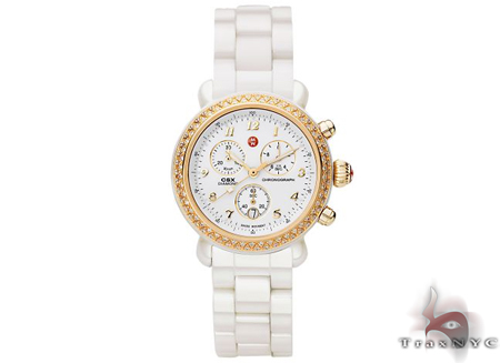 Michele CSX Ceramic Gold Ladies Watch MWW03N000002 Michele Diamond Watches