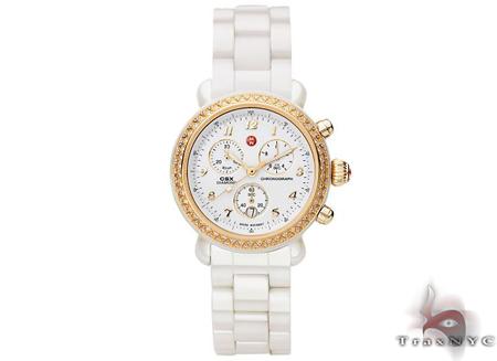 Michele CSX Ceramic Gold Ladies Watch MWW03N000002 Michele Diamond Watches