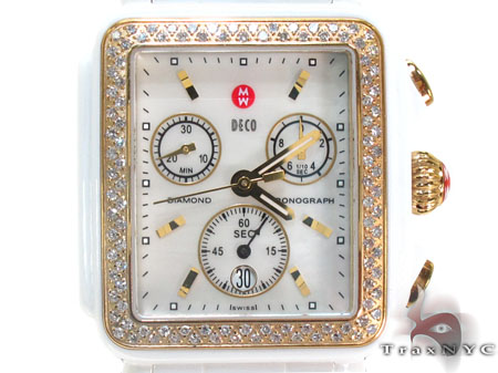 Michele Deco White Ceramic Watch MWW06F000003 Michele Diamond Watches