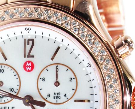 Michele Rose Gold Mother of Pearl Diamond Watch MW17A01B4025 Michele Diamond Watches