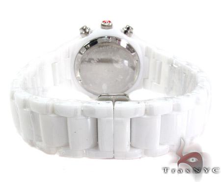 Michele Tahitian Ceramic White Diamond Ladies Watch MWW12A000001 Michele Diamond Watches