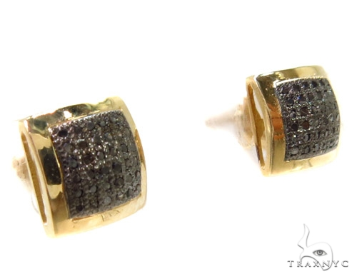 Micro-Pave Black Diamond Earrings 37670 Stone