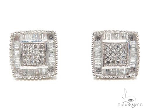 Micro Pave Diamond Earrings 40958 Stone