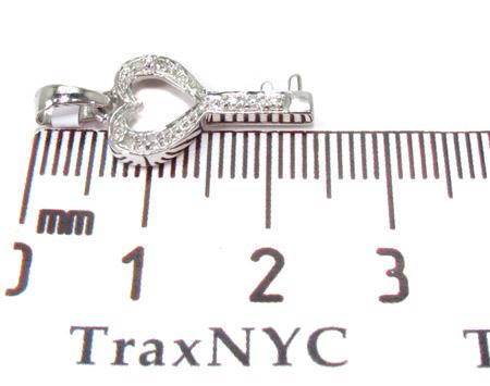 Mini Heart Key Diamond Pendant 1 Metal