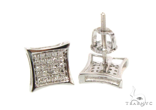 Mini Pave SQ Earrings Stone