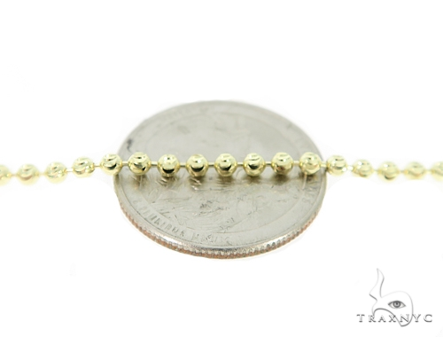 Moon Cut 10k Yellow Gold Chain 28 Inches 2.5mm 11.70 Grams 49603 Gold