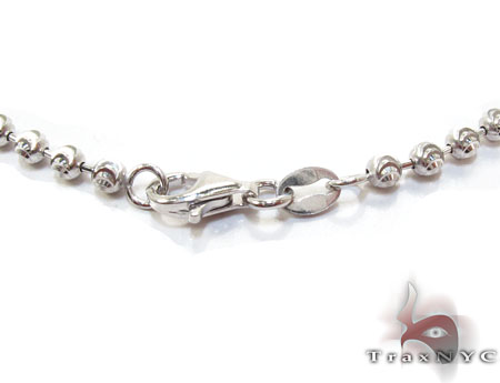Moon Cut Chain 16 Inches, 2mm, 7.6 Grams Silver