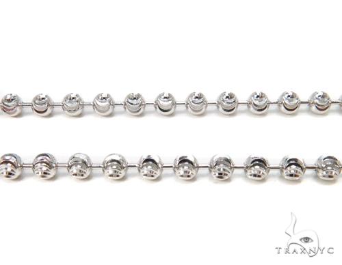 Moon Cut Silver Chain 36 Inches, 3mm, 12.7 Grams Silver