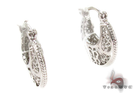 Moon Silver Earrings 31434 Metal
