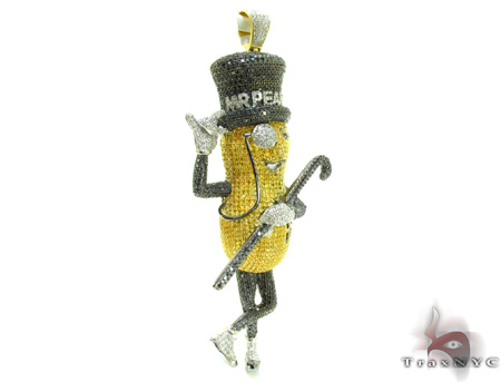 Mr.Peanut Diamond Pendant 21163 Metal