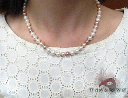 Multi-Color Pearl Necklace 27186 Pearl