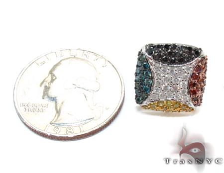 Multi-Color Prong Diamond Single Earring 32674 Stone