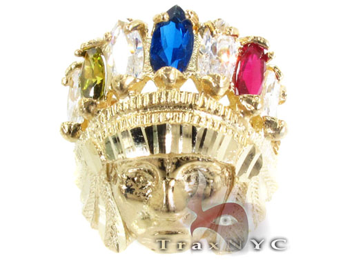 Multi Colored Sage Ring Metal