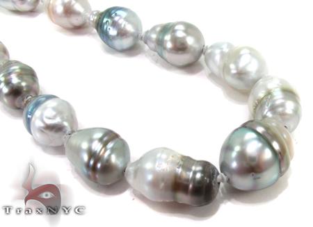 Multi-color Baroque Pearl Ladies Necklace 27356 Diamond