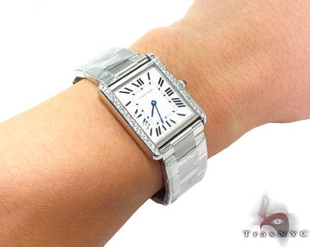 Cartier Tank Solo Diamond Steel Watch Cartier