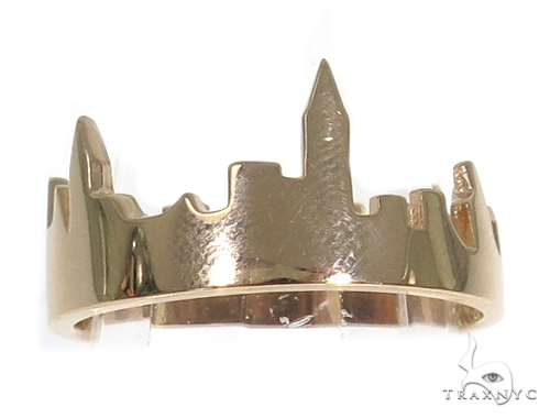 NYC Skyline Rose Gold Ring 45347 Metal