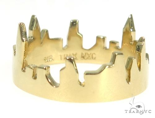 NYC Skyline Yellow Gold Ring 45349 Metal