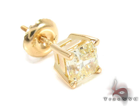 Natural Fancy Light Yellow Single Earring Style
